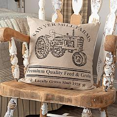 Sawyer Mill Charcoal Tractor Pillow 18x18