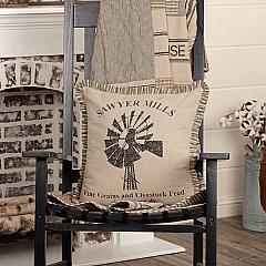 Sawyer Mill Charcoal Windmill Pillow 18x18