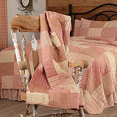Sawyer Mill Red Block Quilted Throw 60x50