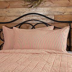 Sawyer Mill Red Ticking Stripe King Sham 21x37