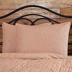 Sawyer Mill Red Ticking Stripe Standard Sham 21x27