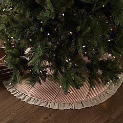 Sawyer Mill Red Ticking Stripe Tree Skirt 55