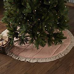 Sawyer Mill Red Ticking Stripe Tree Skirt 60