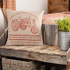 Sawyer Mill Red Tractor Pillow 18x18