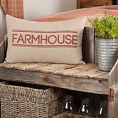 Sawyer Mill Red Farmhouse Pillow 14x22