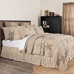Sawyer Mill Star Charcoal California King Quilt 130Wx115L