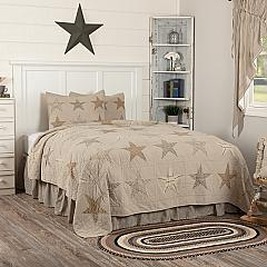 Sawyer Mill Star Charcoal California King Quilt Set; 1-Quilt 130Wx115L w/2 Shams 21x37
