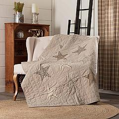 Sawyer Mill Star Charcoal Quilted Throw 60x50