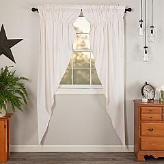 Simple Life Flax Antique White Prairie Long Panel Set of 2 84x36x18