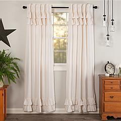 Simple Life Flax Antique White Ruffled Panel Set of 2 84x40