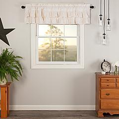 Simple Life Flax Antique White Ruffled Valance 16x72
