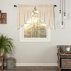 Simple Life Flax Natural Prairie Swag Set of 2 36x36x18