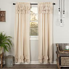 Simple Life Flax Natural Ruffled Panel Set of 2 84x40