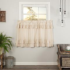 Simple Life Flax Natural Ruffled Tier Set of 2 L36xW36