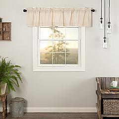 Simple Life Flax Natural Valance 16x72