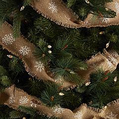 Snowflake Burlap Natural Garland Set of 3 9ft