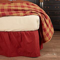 Solid Burgundy Queen Bed Skirt 60x80x16