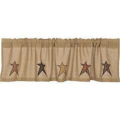 Stratton-Burlap-Applique-Star-Valance-16x60-image-2