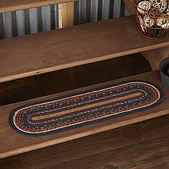 Stratton Jute Stair Tread Oval Latex 8.5x27
