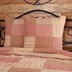 Sawyer Mill Red Quilted Euro Sham 26x26