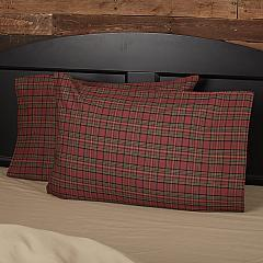 Tartan Red Plaid Standard Pillow Case Set of 2 21x30