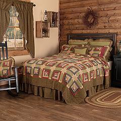 Tea Cabin California King Quilt 130Wx115L