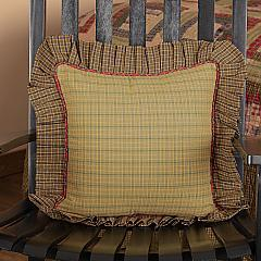 Tea Cabin Fabric Ruffled Pillow 16x16