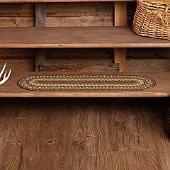 Tea Cabin Jute Stair Tread Oval Latex 8.5x27