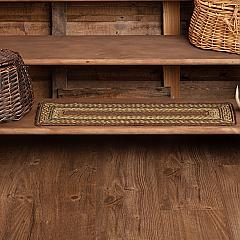 Tea Cabin Jute Stair Tread Rect Latex 8.5x27
