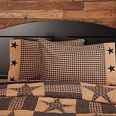 Teton Star Standard Pillow Case Applique Star Border Set of 2 21x30