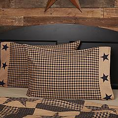 Teton-Star-Standard-Pillow-Case-Applique-Star-Border-Set-of-2-21x30-image-2