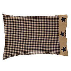 Teton-Star-Standard-Pillow-Case-Applique-Star-Border-Set-of-2-21x30-image-3