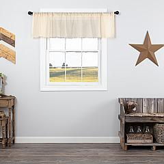 Tobacco Cloth Natural Valance Fringed 16x60