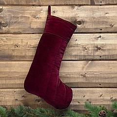 Velvet Red Stocking 12x20