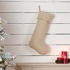 Vintage Burlap Stocking 12x20