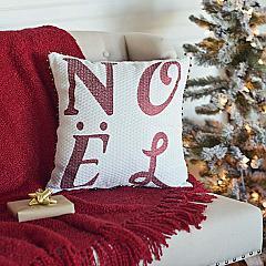 Vintage Stripe Noel Pillow 16x16