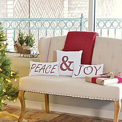 Vintage Stripe Peace & Joy Pillow Set of 3 Asstd Sizes