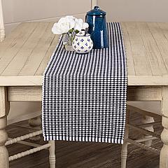 Tara Navy Ribbed Runner 13x72