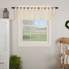 Willow Creme Tab Top Valance 16x90
