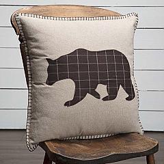 Wyatt Bear Applique Pillow 18x18