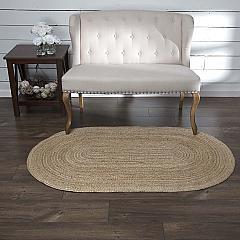 Natural Jute Rug Oval w/ Pad 36x60