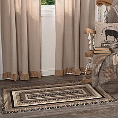 Sawyer Mill Charcoal Jute Rug Rect w/ Pad 27x48