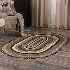 Sawyer Mill Charcoal Jute Rug Oval w/ Pad 48x72