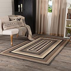 Sawyer Mill Charcoal Jute Rug Rect w/ Pad 60x96