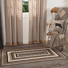 Sawyer Mill Charcoal Jute Rug Rect w/ Pad 36x60