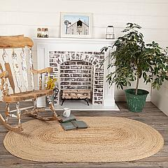 Natural Jute Rug Oval w/ Pad 48x72