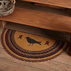 Heritage Farms Crow Jute Rug Half Circle w/ Pad 16.5x33