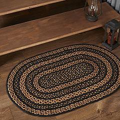 Farmhouse Jute Rug Oval w/ Pad 24x36
