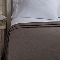 Serenity Grey Twin Cotton Woven Blanket 90x62