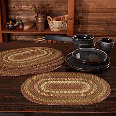 Tea Cabin Jute Placemat Set of 6 12x18